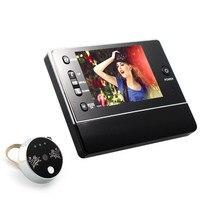 Na całym świecie 3.5 cyfrowy wizjer do drzwi bezpieczeństwa widz LCD wizjer do drzwi widz czujnik Monitor Peep Hole kamery widz wideo aparatu DIY w Dzwonek do drzwi od Bezpieczeństwo i ochrona na