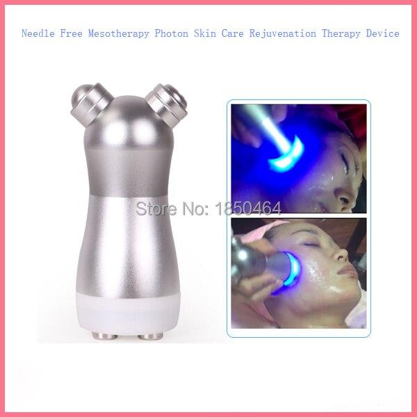 Free shipping Pro Skin Rejuvenation Photon Needle-free Mesotherapy Skin Beauty Massage Device