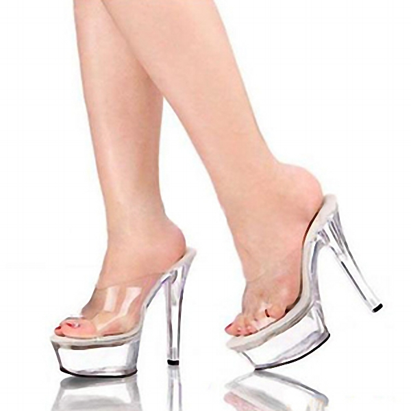 Gorgeous 15cm Ultra High Heels Fashion Slippers Bride Sexy Crystal Shoes 6 Inch Clear High Heel Platform Exotic Dancer Shoes professional customize 15cm ultra high heels sandals platform bride 6 inch wedding shoe women s slippers sexy lips crystal shoes