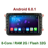 Octa Core Android 6 0 1 2 Din Car DVD Player GPS For VW Volkswagen Golf
