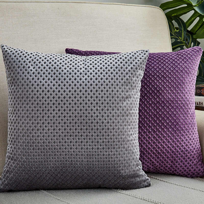 Cushion Cover 45x45cm Pillow Cover Home Decor Velvet Pillow Case Grey For Living Room Housse De Coussin Home Sofa Decorative