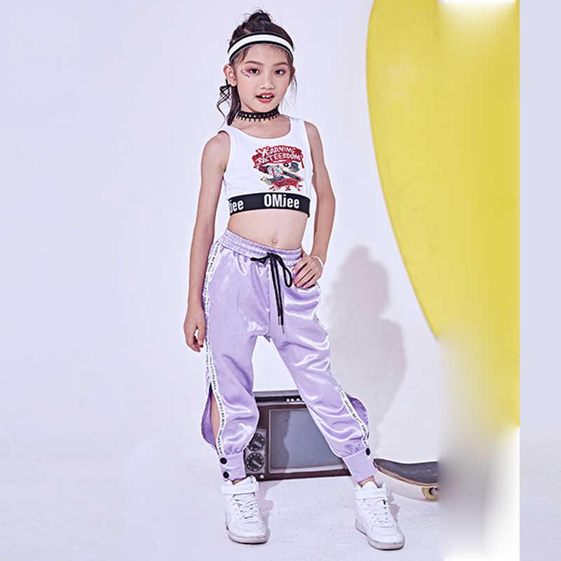 3336844c1 ... 2018 Hip Hop Dance Costume Kids Jazz Vest Pants Girls Street Dance  Clothing Children Stage Costumes ...