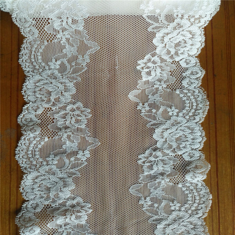 New arrival 5yards/lot width 14.5cm 2colors elastic Wedding dress accessories  lace garment accessories lace fabric