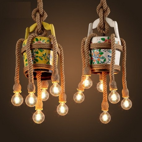 Loft Style Wooden Cask Hemp Rope Droplight Edison Vintage Pendant Light Fixtures For Dining Room Hanging Lamp Indoor Lighting loft style wooden cask hemp rope droplight edison vintage pendant light fixtures for dining room hanging lamp indoor lighting