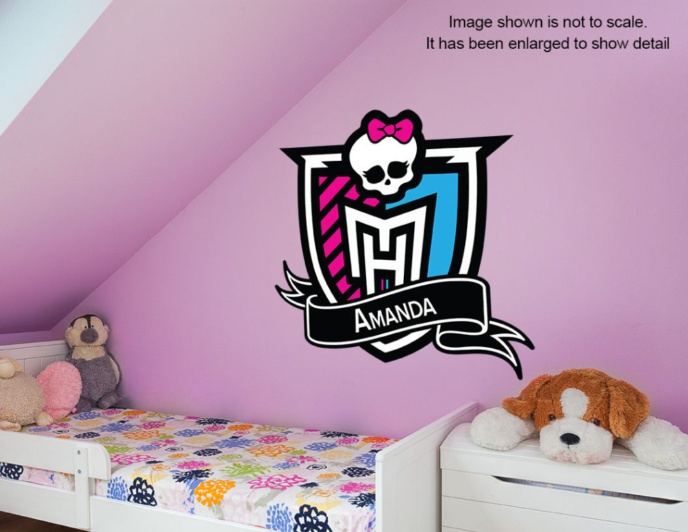 Personalized Monster High Wall Decal Removable And Replaceable