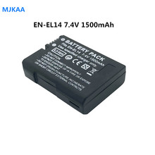 2pcs 7.4V 1500mAh EN-EL14 Batteries D5200 D3100 D3