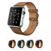 Le Extra Long Véritable Bracelet En Cuir Double Tour Bracelet En Cuir Bracelet pour Apple Watch Band 38mm