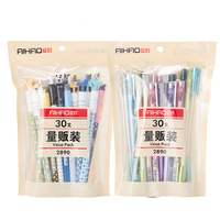 30 Pcs Pack New Gel Pen Value Pack Cute Designs Blue Black Color 0 35 0