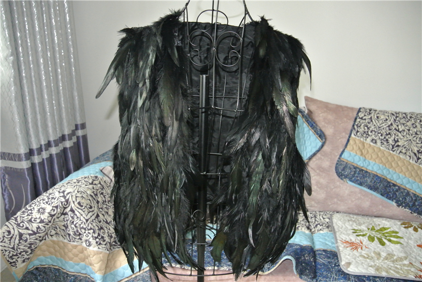 4cae6723ef1 Black feather cape feather jacket feather shawl Carnival feather shoulder  shwal fashion jacket-in Feather from Home & Garden on Aliexpress.com |  Alibaba ...