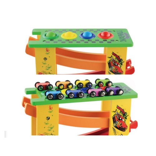 GEEK KING Wooden toy car multi function knock ball glider early education educational toys wooden track speed bowling math toys in Math Toys from Toys Hobbies