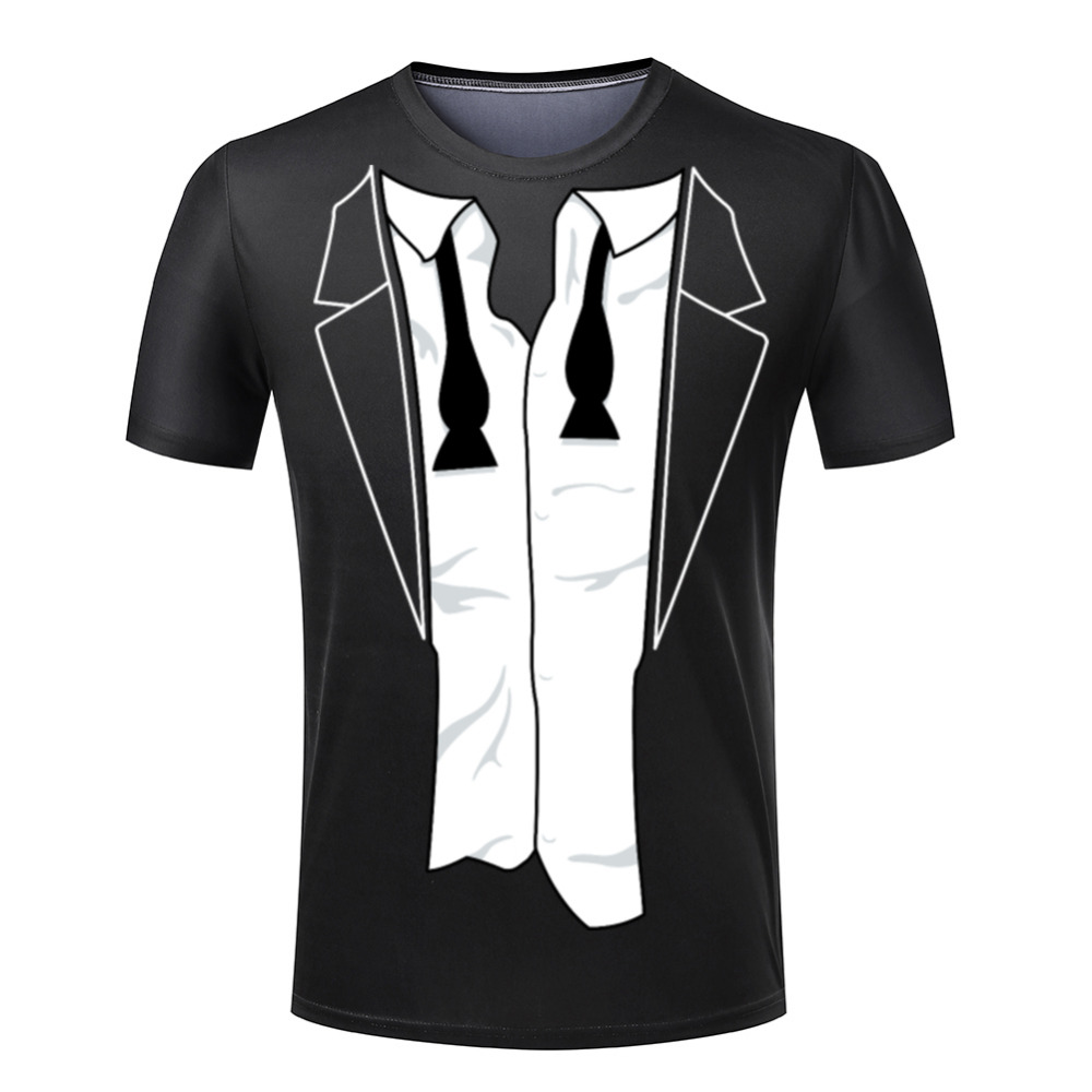 european style hipster t shirt mens handsome tuxedo designer t shirts. Black Bedroom Furniture Sets. Home Design Ideas