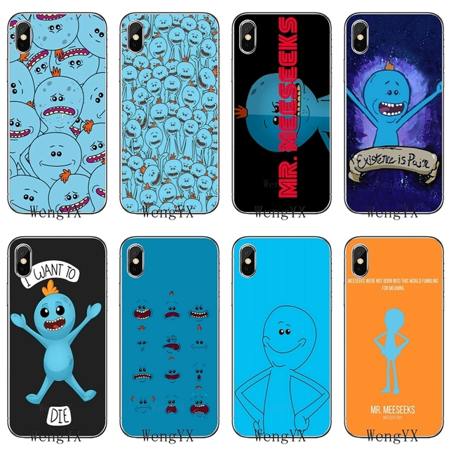 a41c00f7f2 Mr Meeseeks Rick And Morty slim silicone TPU Soft phone cover case For  Apple iPhone 4 4s 5 5s 5c SE 6 6s 7 8 plus X XR XS Max-in Half-wrapped Case  ...