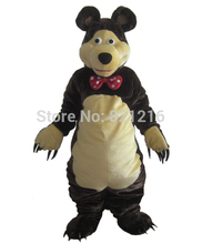 High quality Bear Mascot Costume Dark Brown Classical Cartoon Character Outfit Suit