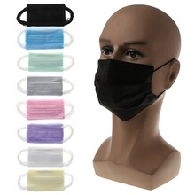 dropship 10 Pcs Disposable Activated Carbon Mouth Face Mask Breathable Dustproof