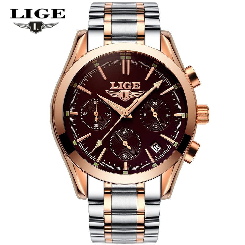 Relojes Hombres LIGE Marca Relojes militares de acero completos - Relojes para hombres - foto 2