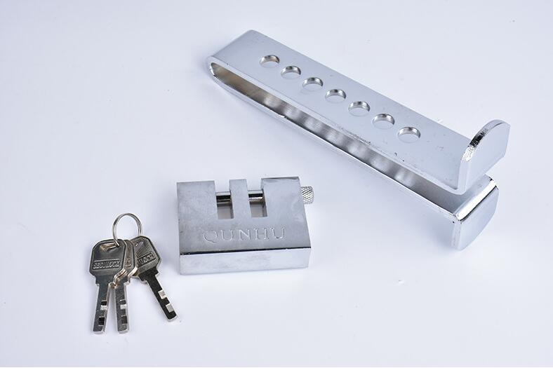 AUTO BRAKE CLUTCH PEDAL CAR LOCK SECURITY STAINLESS ANTI-THEFT STRONG 3 KEYS