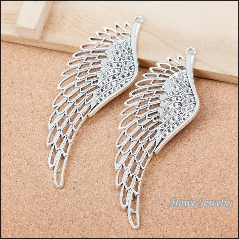 1ピース天使の翼ペンダントアンティークシルバー合金ペンダントヨーロッパスタイルジュエリー所見b220