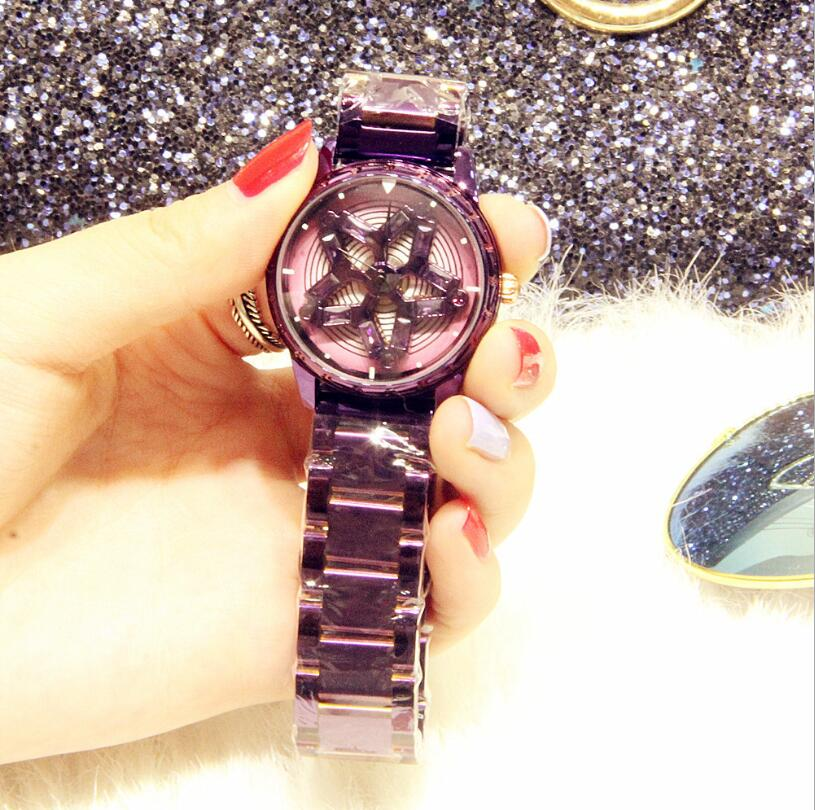 2018 new genuine fashion ladies watch with diamonds running waterproof steel belt quartz female watch цена и фото
