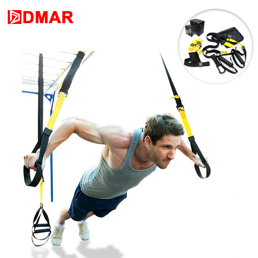 DMAR Resistance Bands Hanging Belt Sport Gym Workout Fitness Suspension Exercise Pull Rope Straps Training Gym