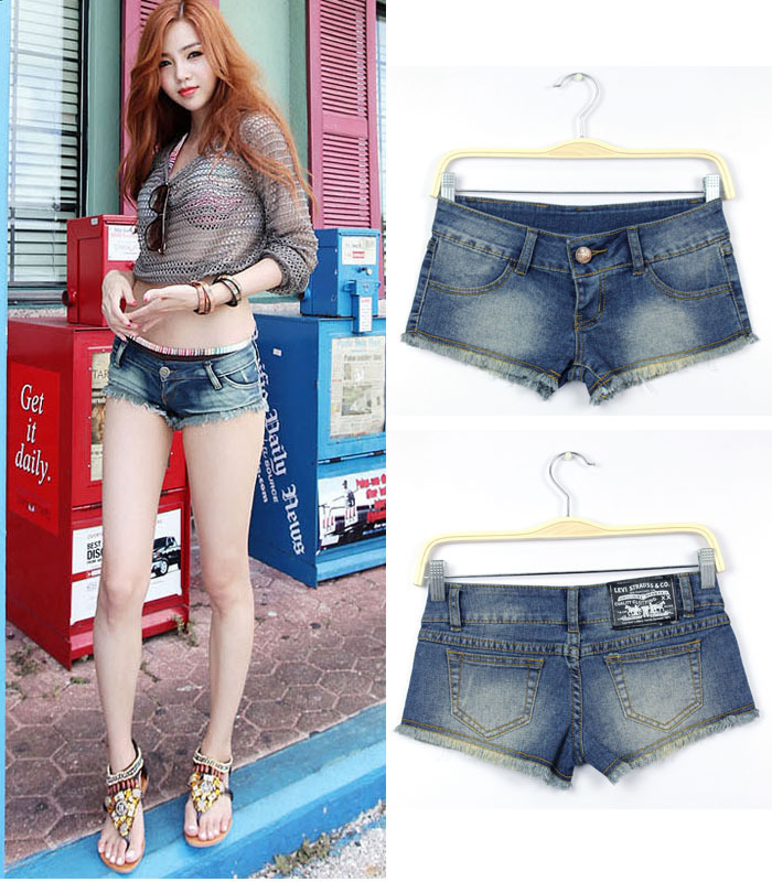 Low Rise Jean Shorts - The Else
