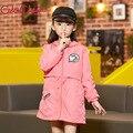 Crianças Blusão Crianças Jaquetas Para Meninas jaqueta Casaco Bebê Roupas Fashion Girls Criança Nova Marca Casual Roupas Cor de Rosa GH076