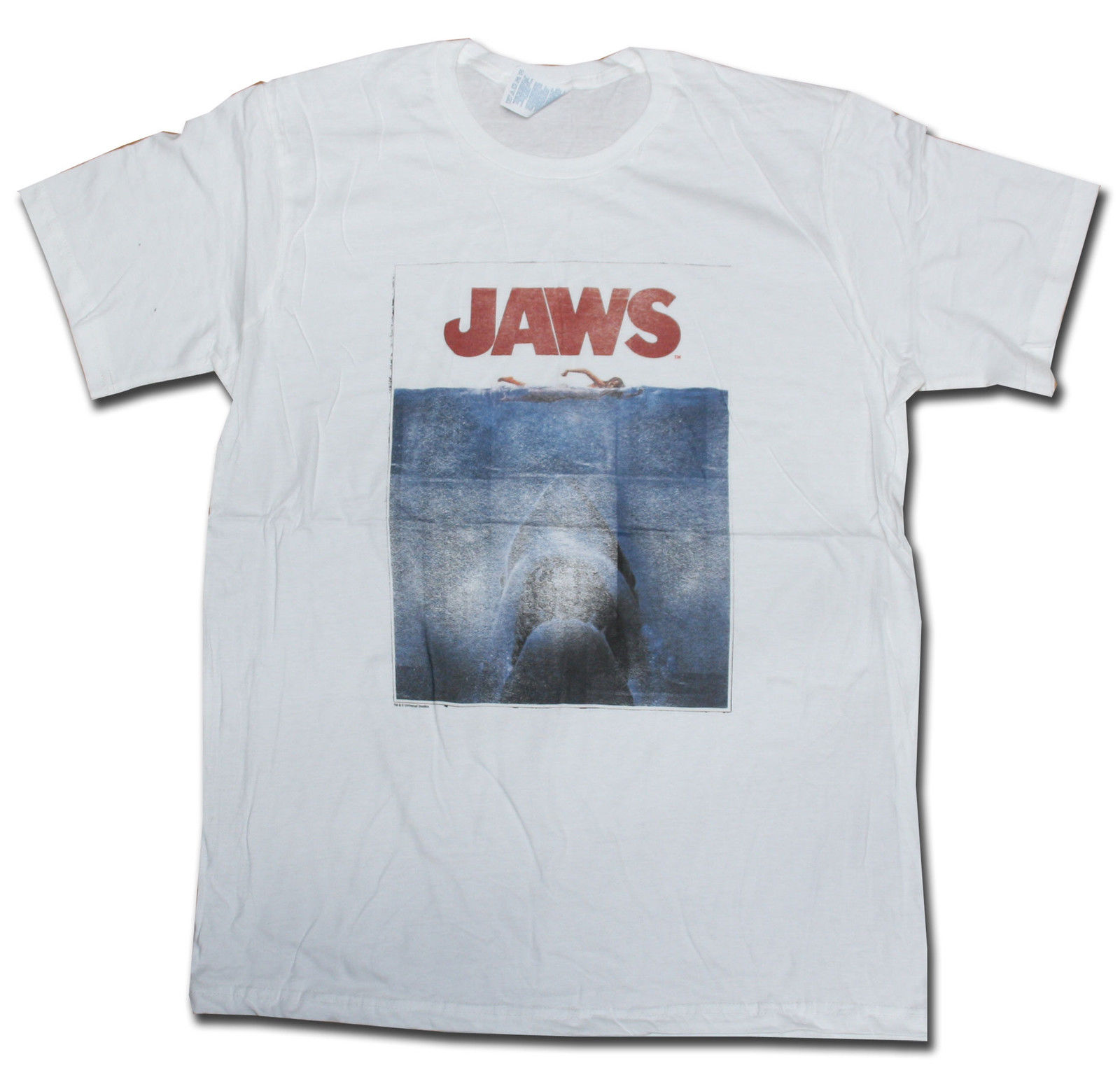 Jaws T Shirt Original White Poster Official Import Classic Movie T Shirt Horror