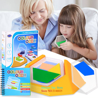 2018 Kids Fun Toys Colorful Children Thinking Space Puzzle 100 Questions Logical Reasoning Puzzle Game Toy For Baby TX0070
