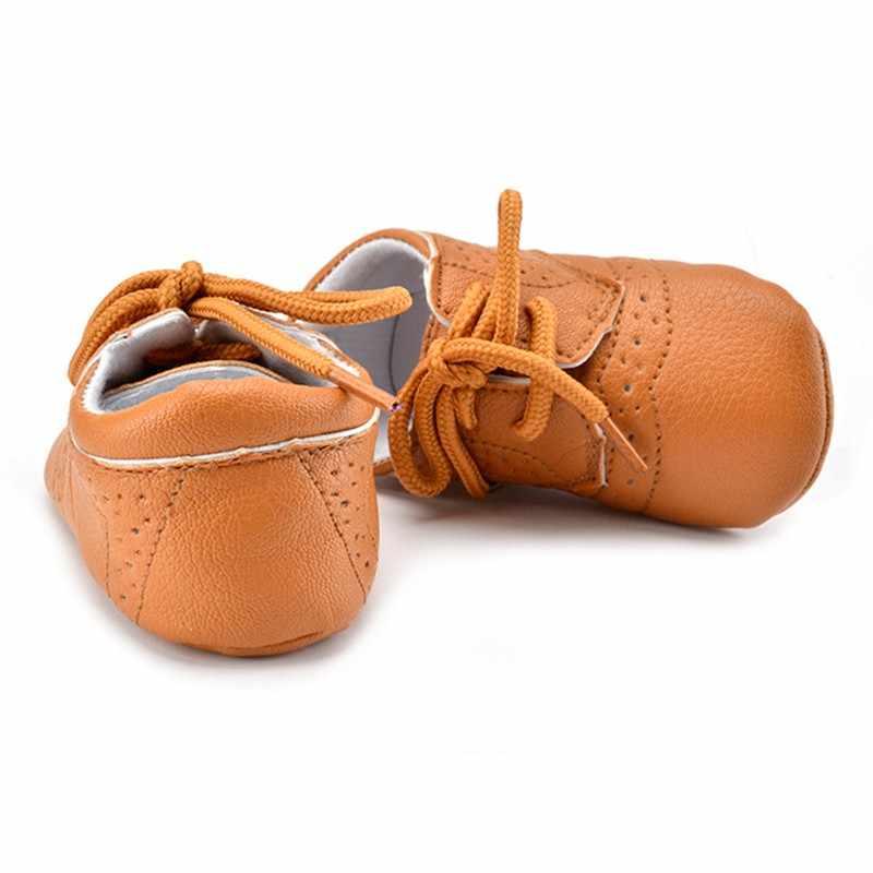 עור מפוצל תינוק נעליים עבור 0-12months ילדי נעליים עם אוויר חור Antiskip הנעלה ראשון הליכונים