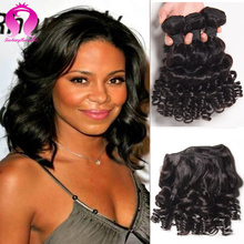 Alibaba Brazilian Virgin Hair Yvonne Curly Brazilian Water Wave Short Brazilian Hair 4 Bundles Model Hair Big Curly Hair Weave