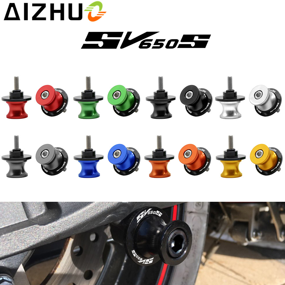 Motorcycle Accessories Swingarm Slider Spools 8mm With SV650S LOGO CNC Aluminum Motor Stand Screws For Suzuki SV650S SV 650S motorcycle accessories cnc aluminum black swingarm spools slider stand screws for suzuki gsxr 600 750 gsxr 1100 gsx1400 01 07 g