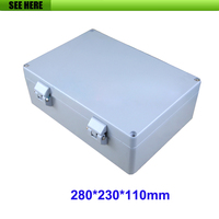 Waterproof power supply housing case aluminum enclosure electric meter box 280*230*110mm