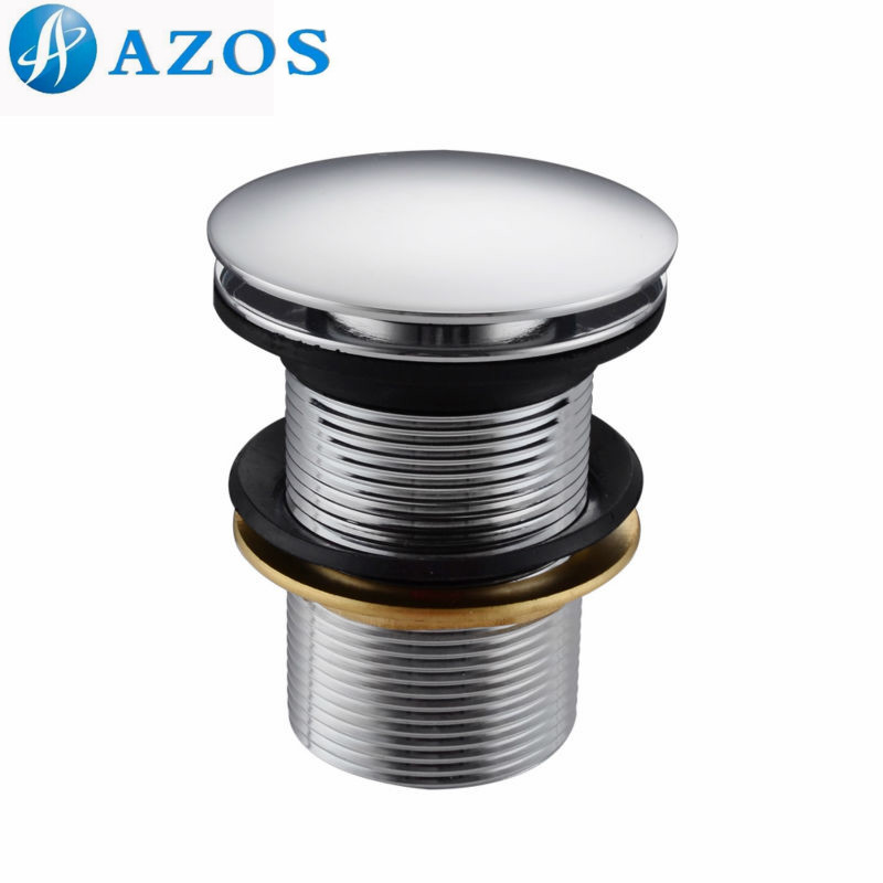 Us 16 06 15 Off 1 2 Inch Bathroom Sink Faucet Vessel Vanity Pop Up Drain Stopper Without Overflow Polished Chrome Xsq001 In Drains From Home