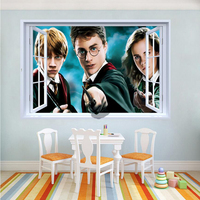 Kids Bedroom 3d Coloful Harry Potter Wall Stickers Removable Nursery Wall Decals Home Decor Wall Pictures