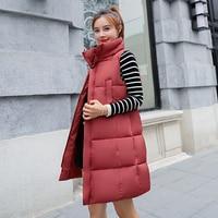 autumn and winter women cotton vest white duck down soft warm waistcoat plus size female outwear brand vest coat