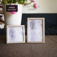 Northern Europe Elegant Luxurious Metal Frame with Pearls 6inch/4inch Photo Frame Home Decorations 1pc/lot