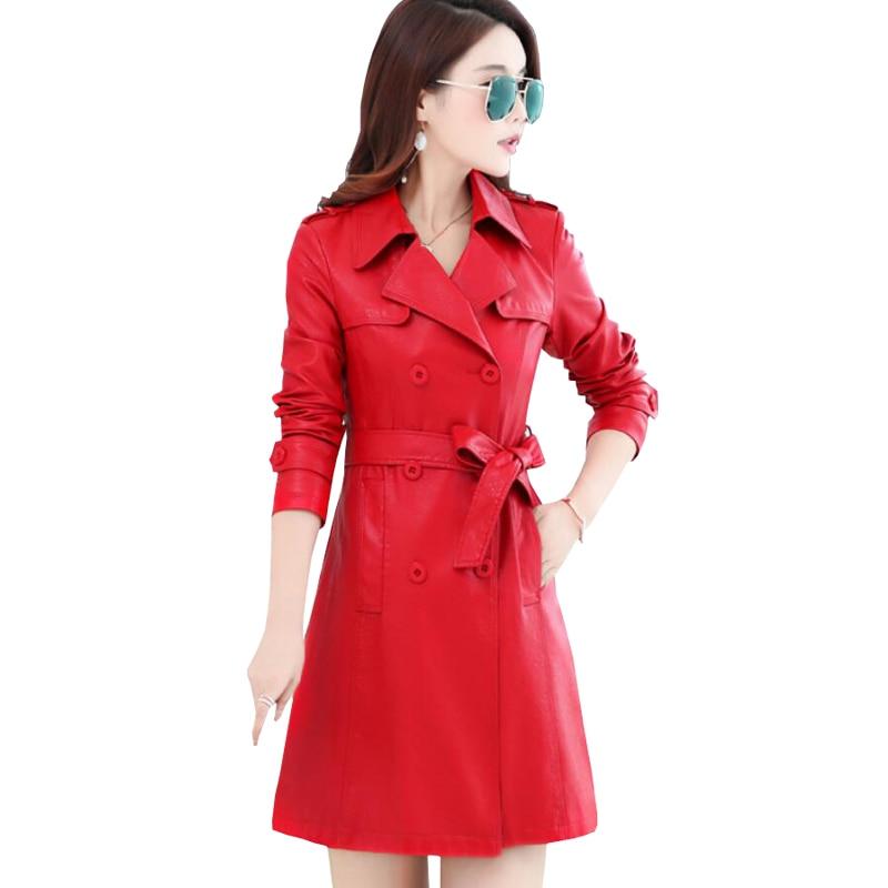 Cuir Décontracté Automne Veste 2019 rouge Femme Manteau Noir Faux De Arrivel Nouvelle Pu Mince En Hiver Femmes bourgogne Double Boutonnage Vestes Amphibie lavande qF55nwZp