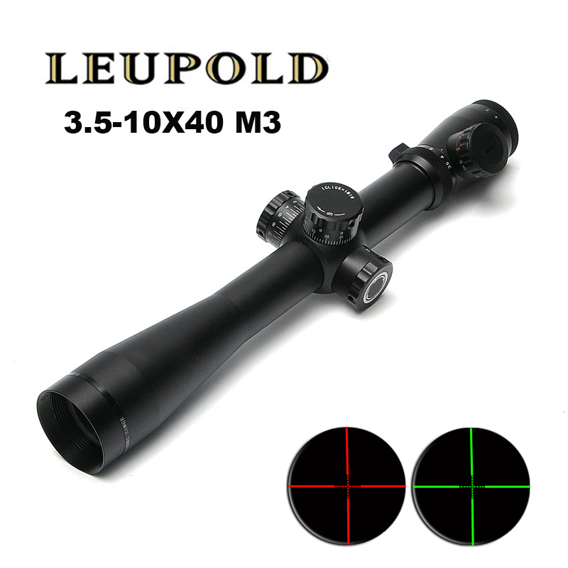 New LEUPOLD 3.5-10X40 M3 Optics Rifle scope Red&Green Dot Retilce Fiber Optic Sight Scope Rifle Hunting Scopes For Airsoft Gun