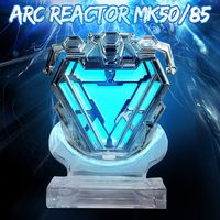 1:1 scale MK50 Arc Reactor Men Chest LED Light Action Figure Model Toys Dolls Movie Props DIY Model Kit Collection Gits