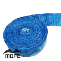 Mofe 2 X 10cm Hot Heat Exhaust Thermo Wrap Shield Protective Tan Tape Fireproof Insulating Cloth