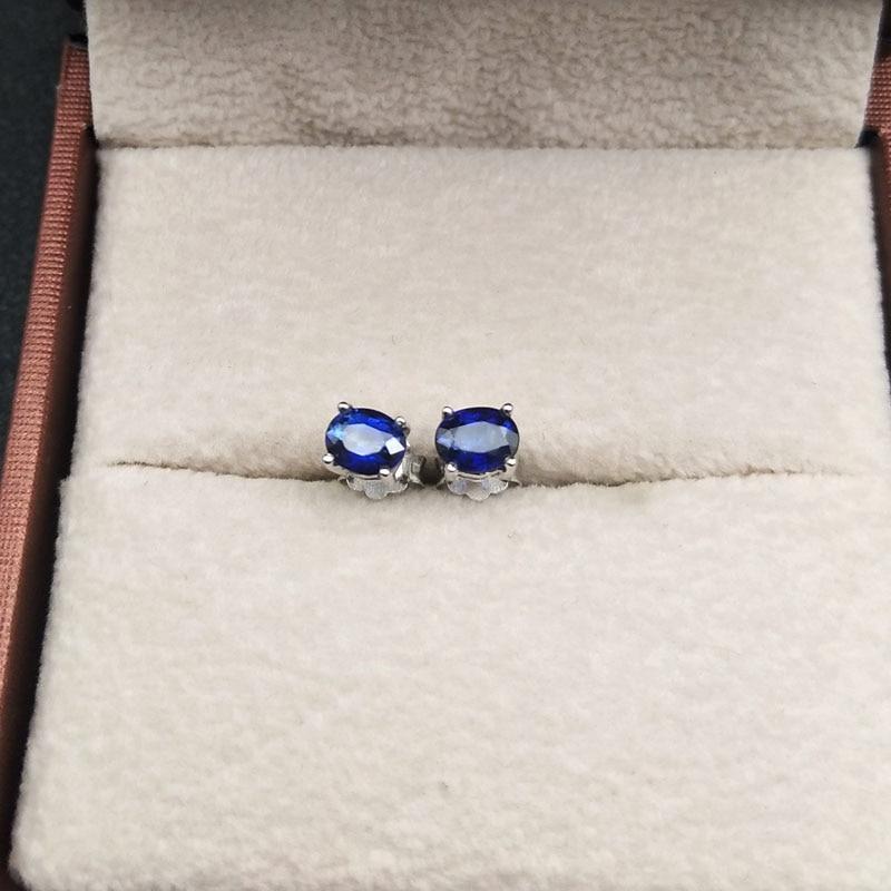 LANZYO 925 argent naturel saphir boucles d'oreilles mode bijoux anniversaire plante femmes cadeau en gros e040501agl - 5
