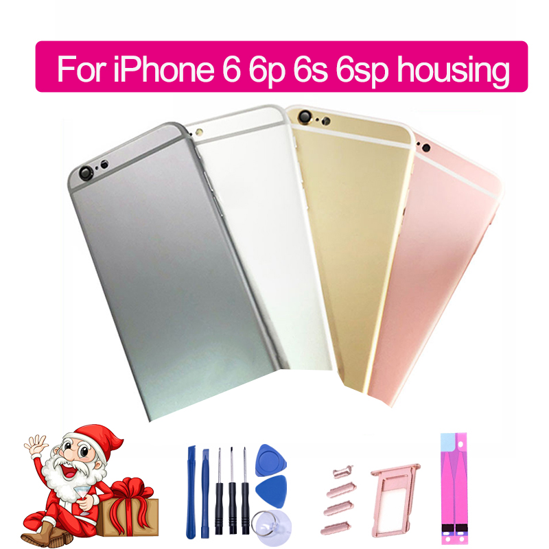 Middle-Frame-Chassis Housing Battery-Cover iPhone 6s IMEI Plus AAA for with Logo Can