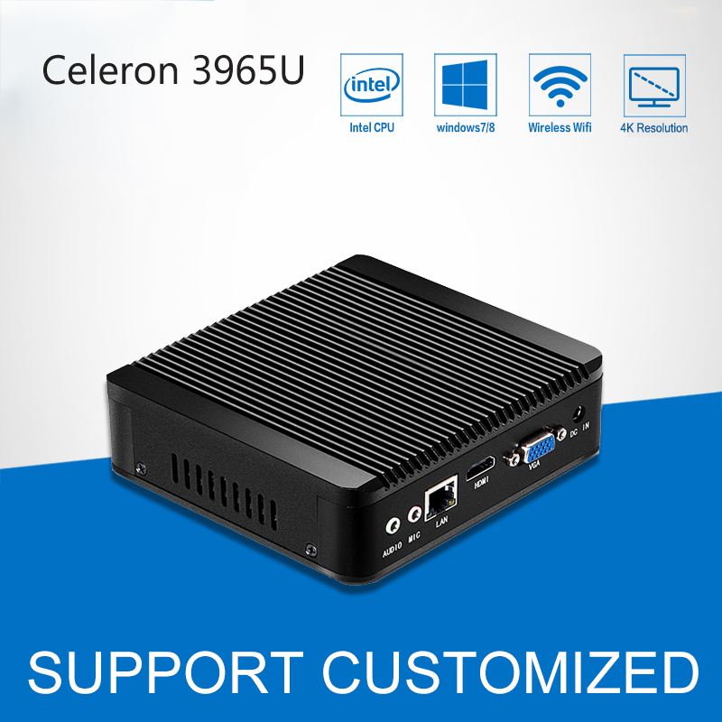 Mini PC 4K Windows 10 Mini Computer Celeron 3965U DDR4 RAM Office Computer Desktop Barebone HTPC HD Graphics 610 HDMI TV BOX 2015 cheapest barebone mini pc computer nano j1800 with 3g sim function dual nics