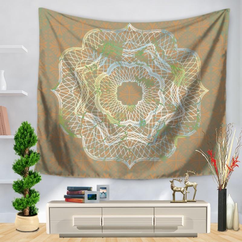 Polyster Mandala Carpet Light Striped Flower Printing Wall