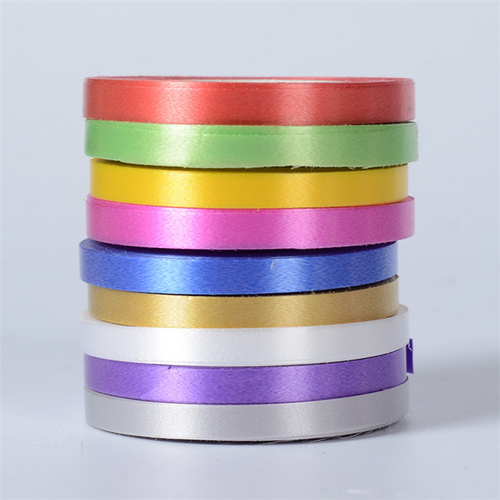 4    10pcslot 5mm10M Ribbon Wedding Decoration Birthday Party Supplie Diy Make Bows Gift Flowers Tie Bouquet Balloon Satin Ribbon
