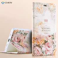 3D Relief Painting Luxury Flip Leather Case For Xiaomi Mi5 Mi 5 With Stand Phone Bag