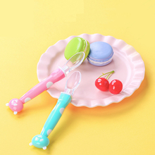 2pcs/lot & Box Baby Silicone Spoon Safety Infant Feeding Kids Children Boy Girl Toddler Flatware Spoons Dishes Tableware Soup