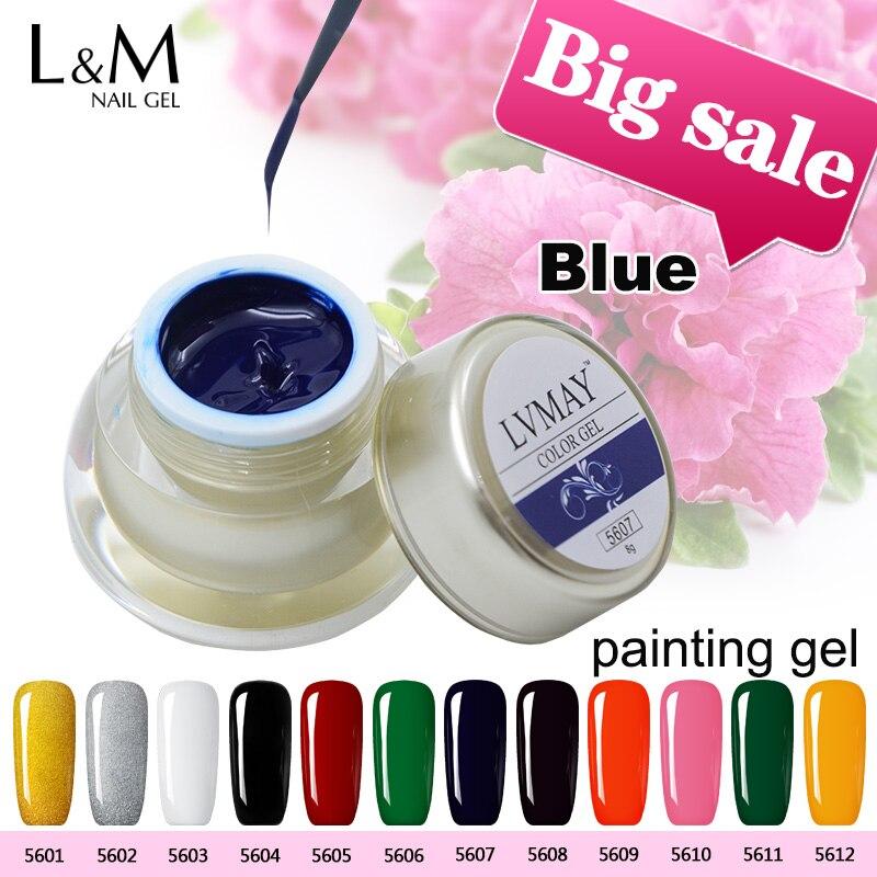 3 Pcs Kit Gel de pictură Kit de unghii acrilice Gel profesionist de - Manichiură