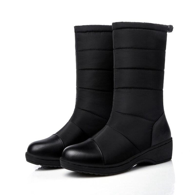 ASILETO Russia women boots warm snow boots women winter mid calf boots footwear ladies shoes woman bota feminina botas A800s