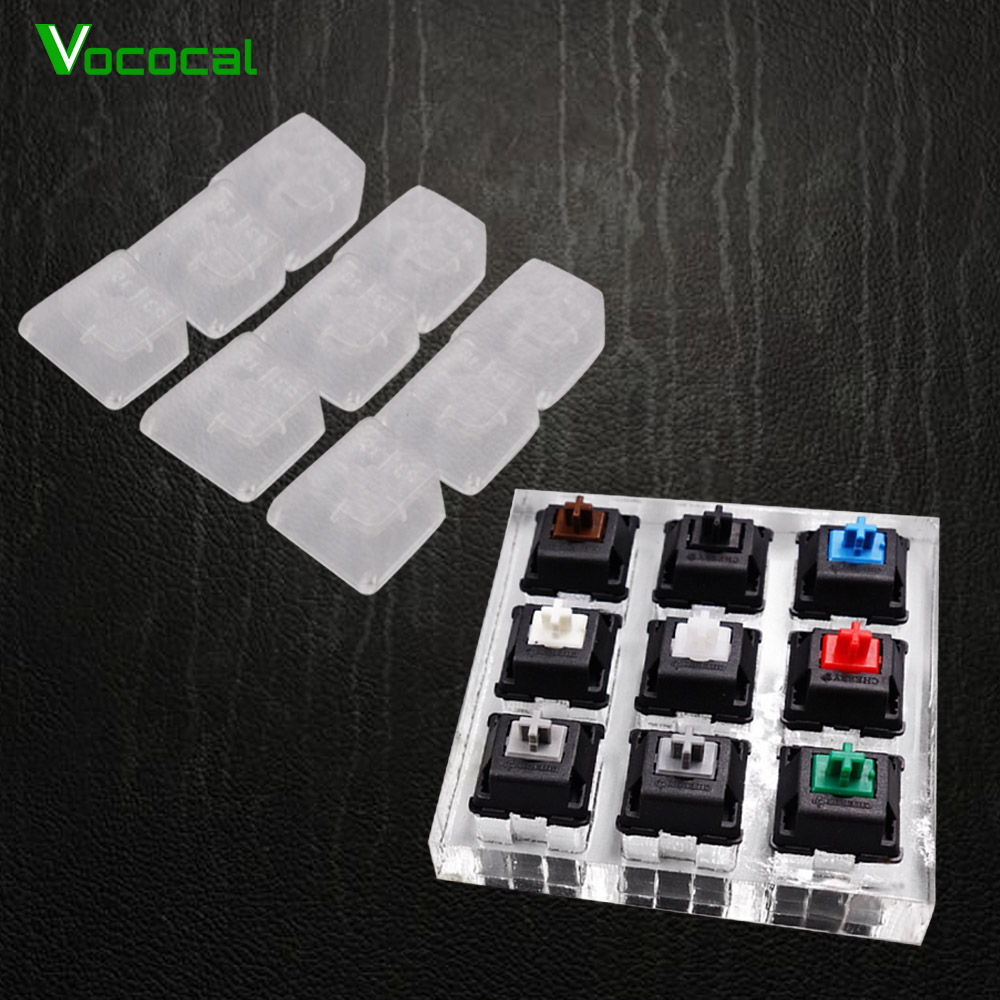 Vococal Acrylic <font><b>Mechanical</b></font> <font><b>Keyboard</b></font> <font><b>Tester</b></font> Switches Keycaps Key Cap 9-Axis Frame Bundle Test Kit Set for Cherry MX image