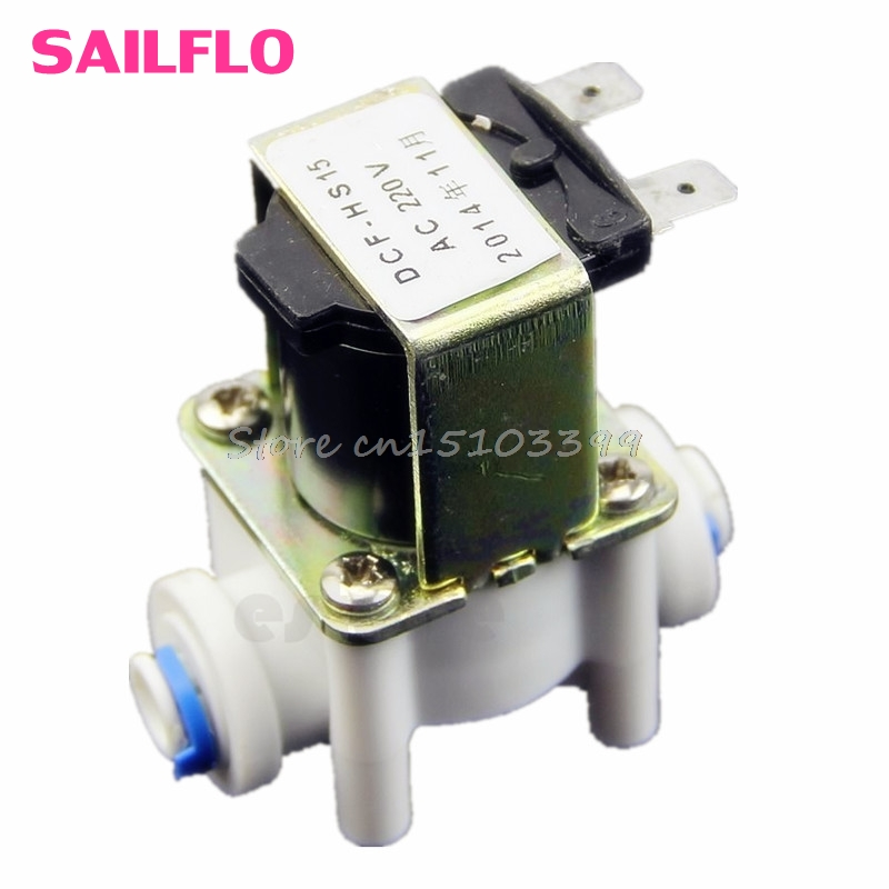 AC 220V Electric Plastic Solenoid Valve for Water Purifier Air Inlet Pipeline G08 Drop ship